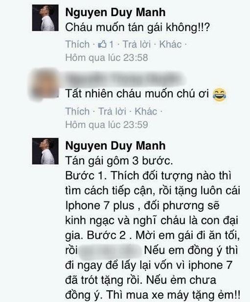 Loạt bình luận 'bá đạo' của Duy Mạnh trên Facebook: Người 'đổ' rầm rầm, kẻ chửi tục tĩu - Ảnh 7