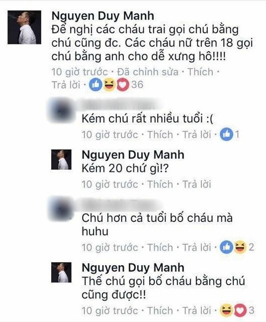 Loạt bình luận 'bá đạo' của Duy Mạnh trên Facebook: Người 'đổ' rầm rầm, kẻ chửi tục tĩu - Ảnh 11