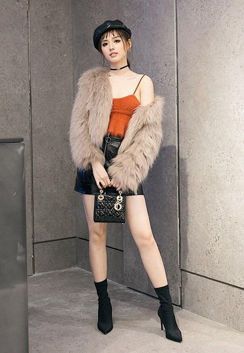 Học Kỳ Duyên, Chi Pu cách diện váy ngắn ngày đông vừa  điệu vừa ấm  - Ảnh 10
