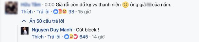 Loạt bình luận 'bá đạo' của Duy Mạnh trên Facebook: Người 'đổ' rầm rầm, kẻ chửi tục tĩu - Ảnh 2