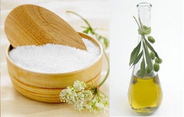 Da trắng sạch mịn màng với công thức làm đẹp với dầu oliu và đường/muối