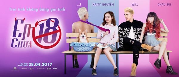 """Poster dễ thương của phim """"Em chưa 18"""""""