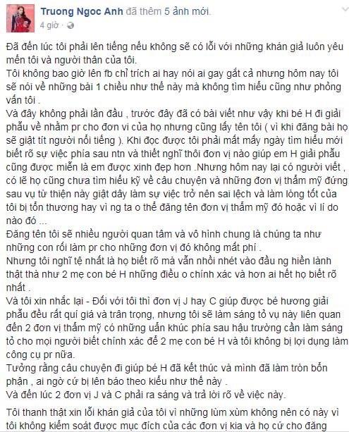 Nữ sinh bị tạt axit chưa nhận được tiền hỗ trợ: Sự thật phía sau lời phản pháo của Trương Ngọc Ánh - Ảnh 3