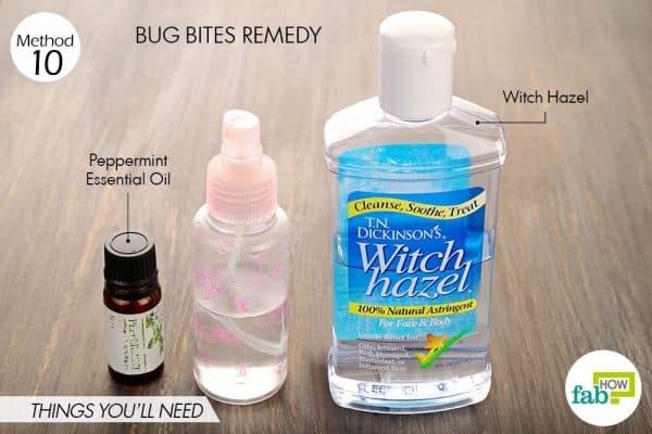 Tận dụng nước cân bằng da trị vết cắn côn trùng tiện lợi