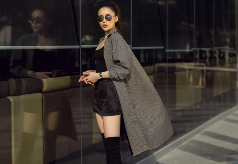Học Kỳ Duyên, Chi Pu cách diện váy ngắn ngày đông vừa  điệu vừa ấm  - Ảnh 7