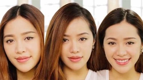 Đổi ngôi tóc giúp thay đổi diện mạo và tóc trông bồng bềnh hơn rất nhiều - Ảnh: Internet
