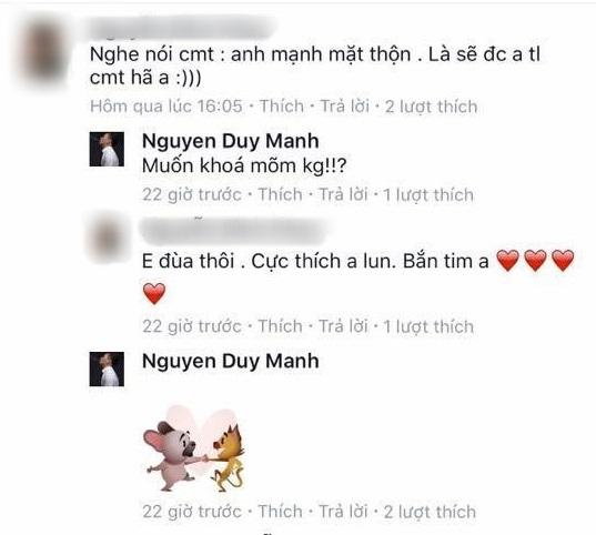 Loạt bình luận 'bá đạo' của Duy Mạnh trên Facebook: Người 'đổ' rầm rầm, kẻ chửi tục tĩu - Ảnh 6