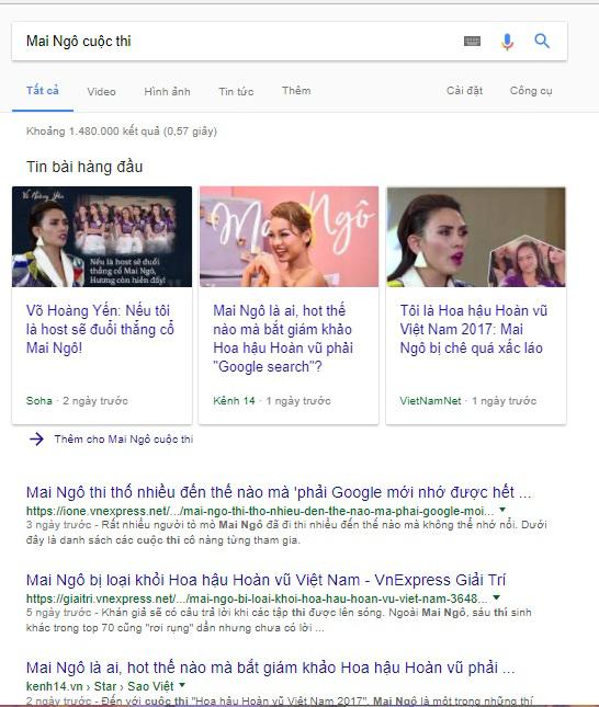 Mai Ngô dự thi Hoa hậu Hoàn vũ vì vương miện hay Google Search?