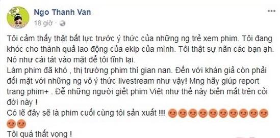 Vụ livestream phim 'Cô Ba Sài Gòn': Đọc tin nhắn nam thanh niên gửi cho Ngô Thanh Vân mà ngỡ ngàng - Ảnh 2