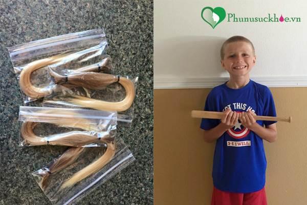 Cậu bé nuôi tóc dài suốt 2 năm để dành tặng bệnh nhi ung thư - Ảnh 2