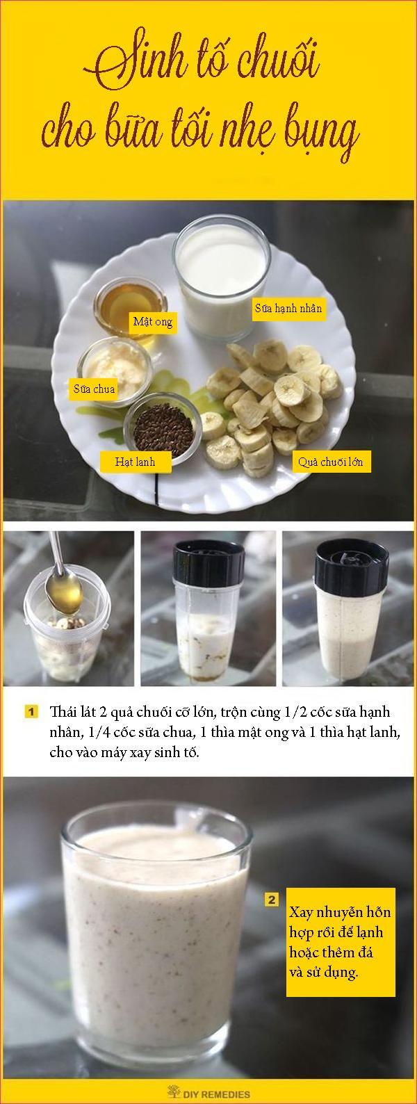Sinh tố chuối thay bữa tối giúp giảm cân mà vẫn no bụng - Ảnh 1