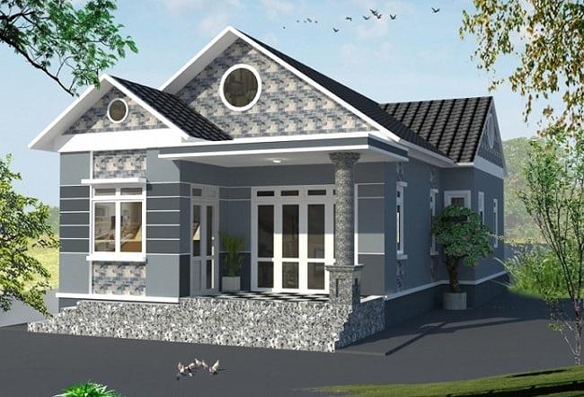 Mẫu nhà cấp 4 gác lửng mái Thái đẹp miễn chê chỉ 200- 300 triệu đồng - Ảnh 1