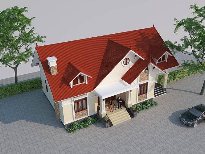 Mẫu nhà cấp 4 gác lửng mái Thái đẹp miễn chê chỉ 200- 300 triệu đồng - Ảnh 3