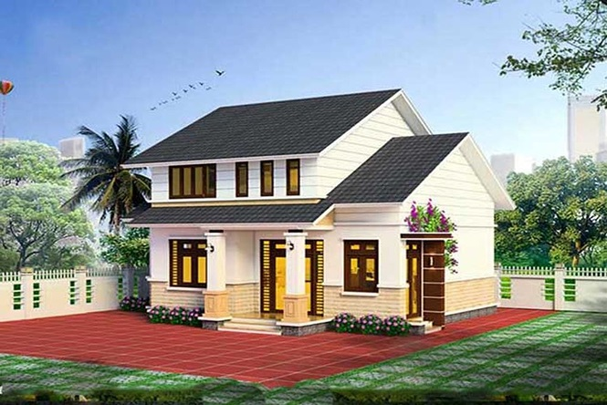 Mẫu nhà cấp 4 gác lửng mái Thái đẹp miễn chê chỉ 200- 300 triệu đồng - Ảnh 4