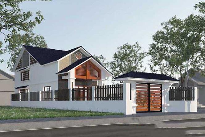Mẫu nhà cấp 4 gác lửng mái Thái đẹp miễn chê chỉ 200- 300 triệu đồng - Ảnh 6