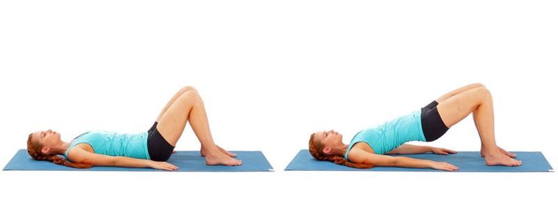 Tập nâng bụng Bridge giúp giảm cân sau sinh mổ an toàn và hiệu quả