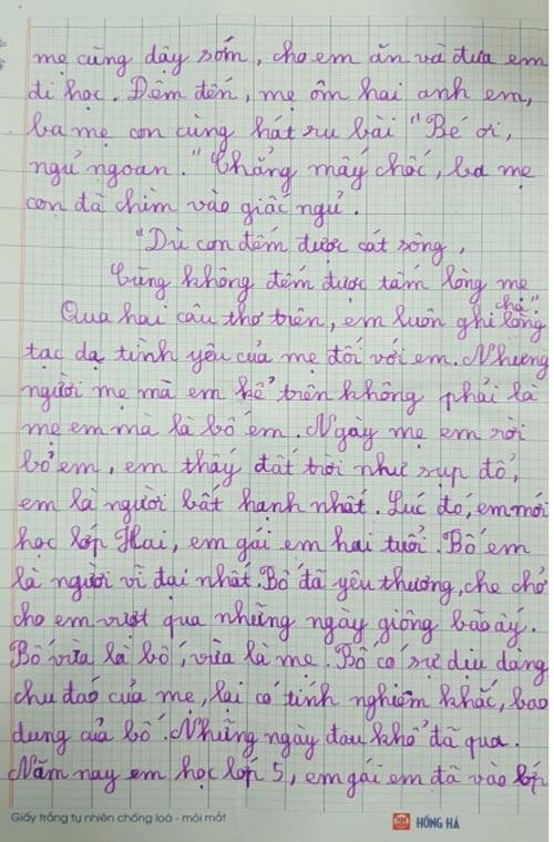 Bài văn tả mẹ nhưng lại ra bố của bé lớp 5 khiến ai cũng nghẹn ngào - Ảnh 3