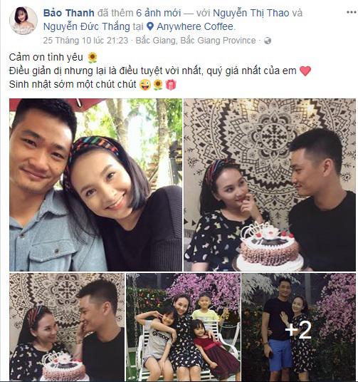 Sau ồn ào thả thính bạn diễn, Bảo Thanh 'Sống chung với mẹ chồng' tình tứ bên ông xã đón sinh nhật lần thứ 27 - Ảnh 1