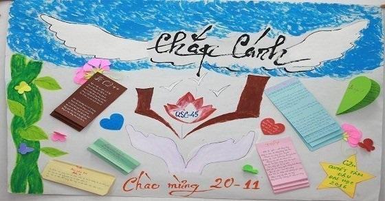 Lời ngỏ báo tường ngày Nhà giáo Việt Nam 20-11