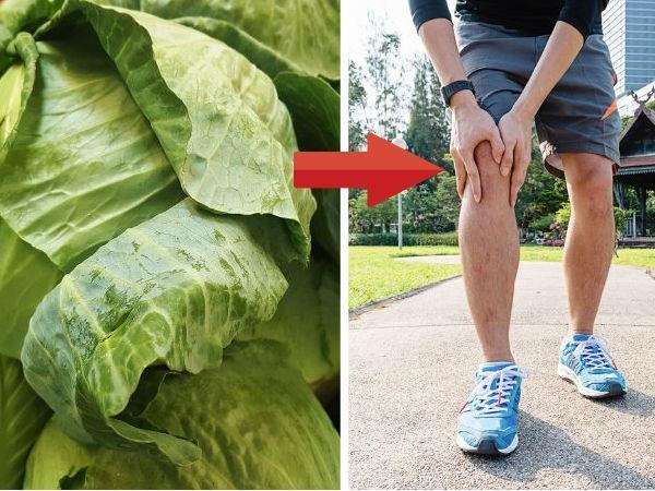 Cách chữa đau đầu gối do bệnh Gút từ cải bắp - Ảnh 1