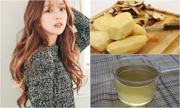 Bí quyết làm đẹp với khoai tây cho mái tóc bòng mượt, chắc khỏe