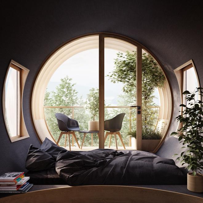 Ngôi nhà hình gốc cây ở Áo - Ảnh 3