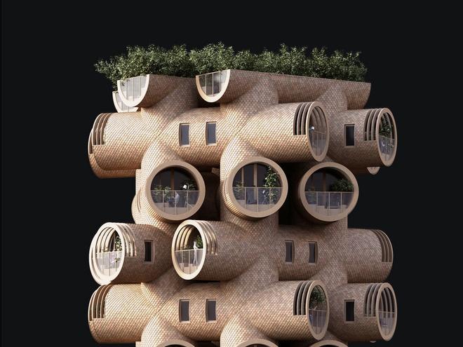 Ngôi nhà hình gốc cây ở Áo - Ảnh 8