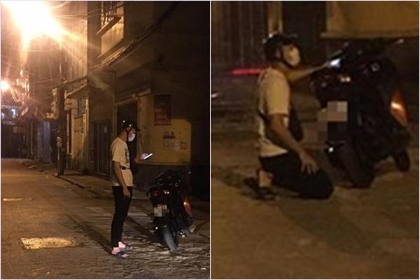 Chàng trai đi xe SH quỳ gối trước nhà bạn gái từ sáng tới tối để xin lỗi mà vẫn thất bại - Ảnh 1