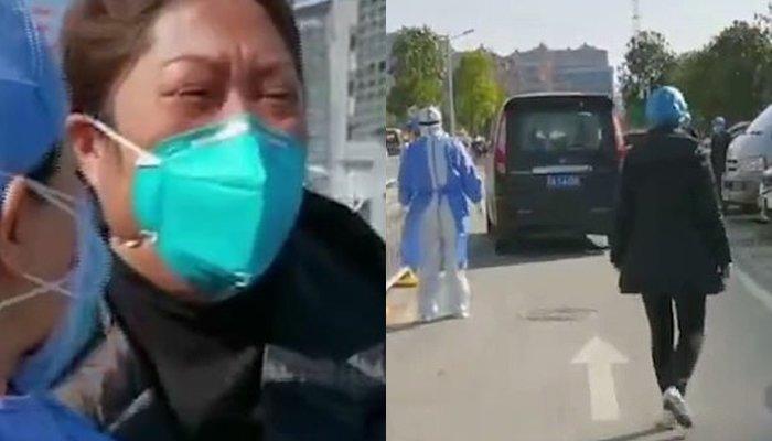 Thương tâm vợ bác sĩ bệnh viện Vũ Hán khóc lóc chạy theo xe đưa thi thể chồng đi hỏa táng - Ảnh 3