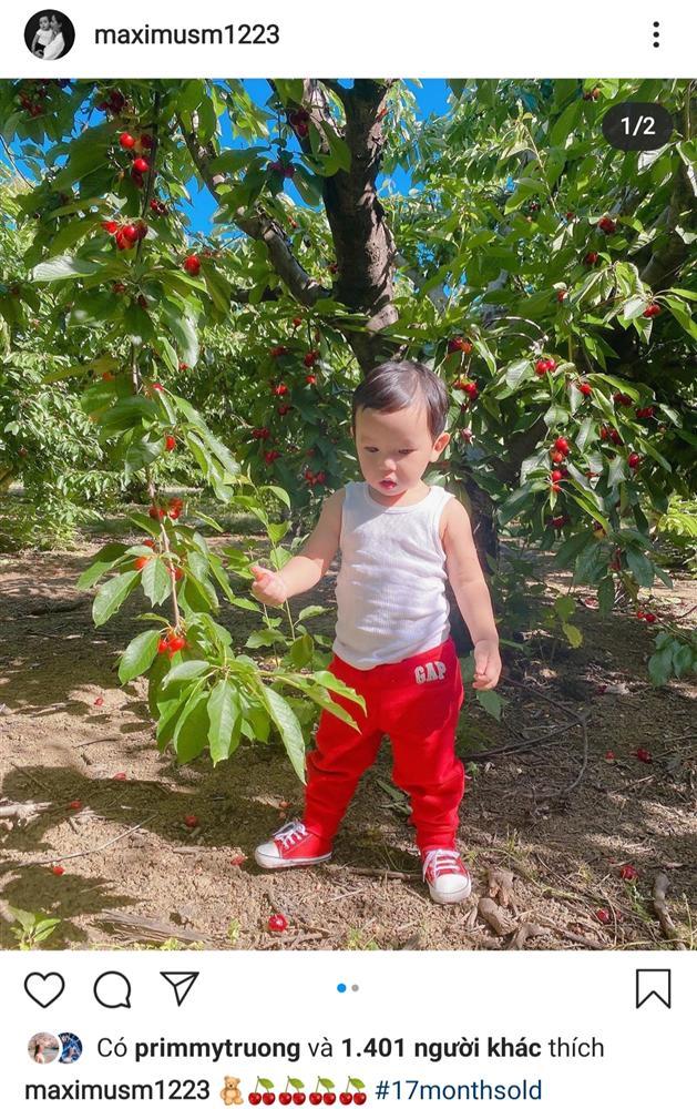 Phạm Hương tiếp tục đăng ảnh con trai lên MXH nhưng vẫn quyết tâm giấu kín mặt mình - Ảnh 1