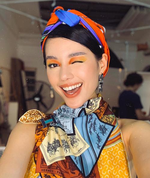 Mỹ nhân Việt 'sai quá sai' khi makeup mắt màu nổi - Ảnh 5