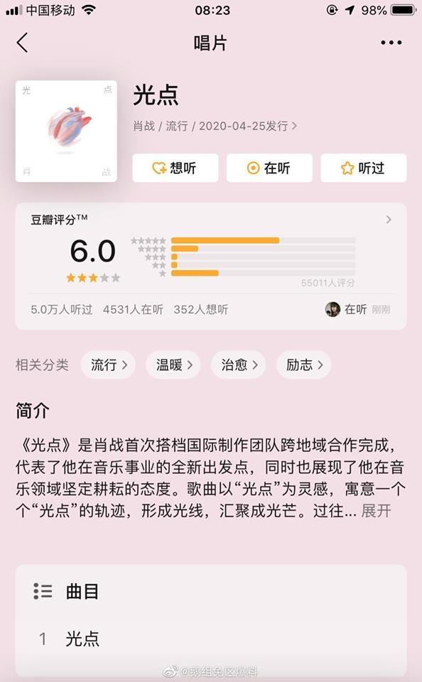 Chưa từng có trong lịch sử: Điểm số Douban bài hát mới của Tiêu Chiến từ 6.7 lên thẳng 10.0 tròn trĩnh - Ảnh 16