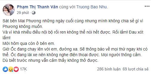 Dàn sao Việt nghẹn thở như chết lặng khi nghe tin diễn viên Mai Phương qua đời - Ảnh 2