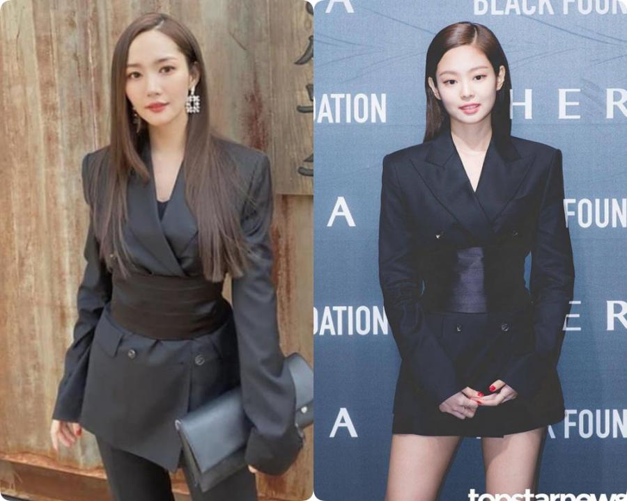 Lần đầu thấy Jennie (Black Pink) lép vé phong cách khi 'đụng hàng' với đàn chị Park Min Young - Ảnh 5