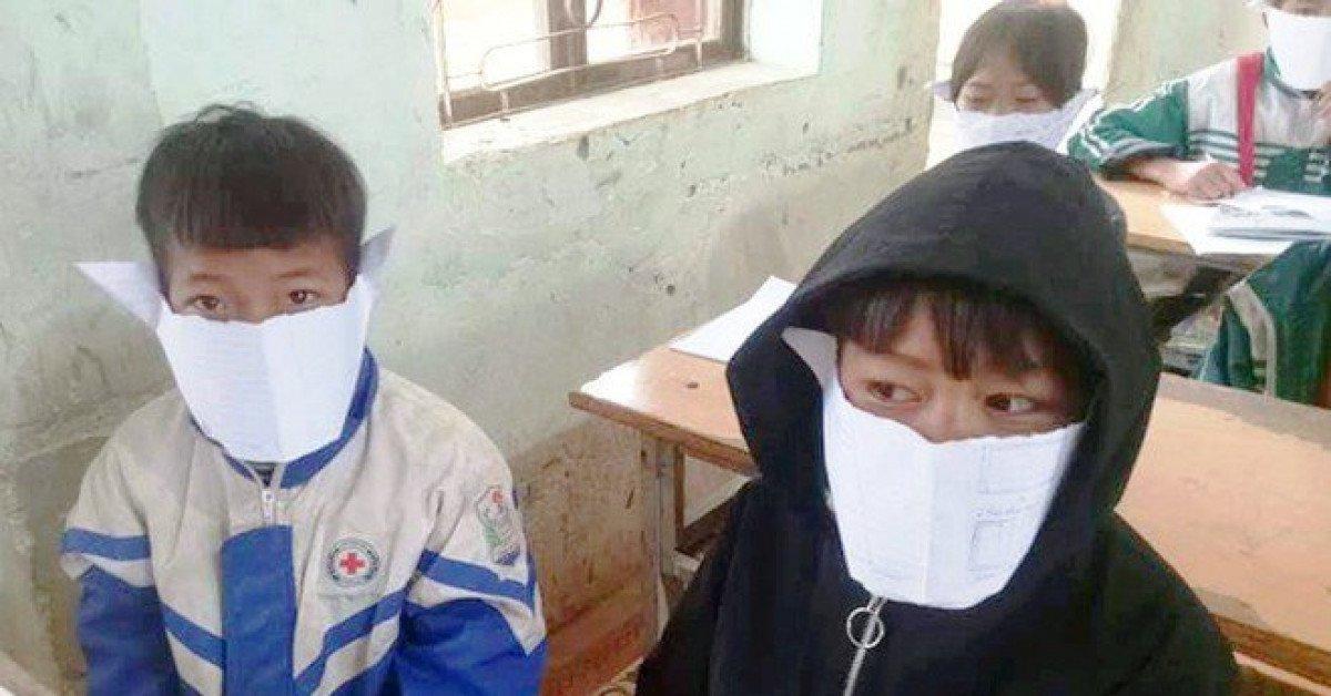 Thực hư hình ảnh học sinh miền núi Nghệ An đeo khẩu trang giấy phòng corona - Ảnh 1