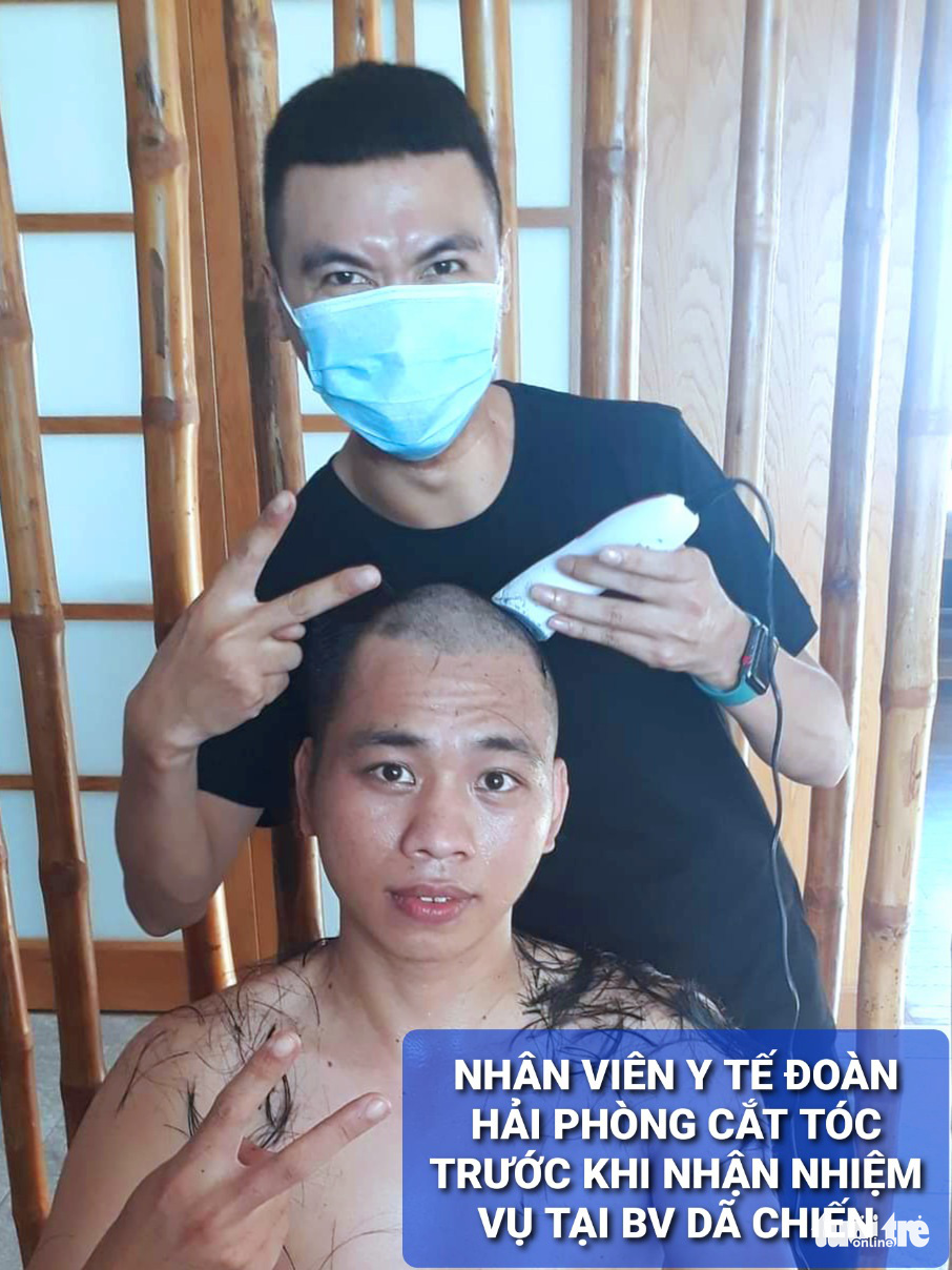 Nam y, bác sĩ TP Hải Phòng đồng loạt... cạo trọc trước khi vào tâm dịch Đà Nẵng - Ảnh 2