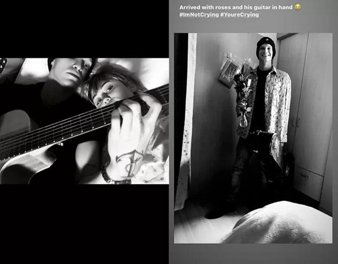 Bạn trai vào viện thăm Miley Cyrus - Ảnh 1