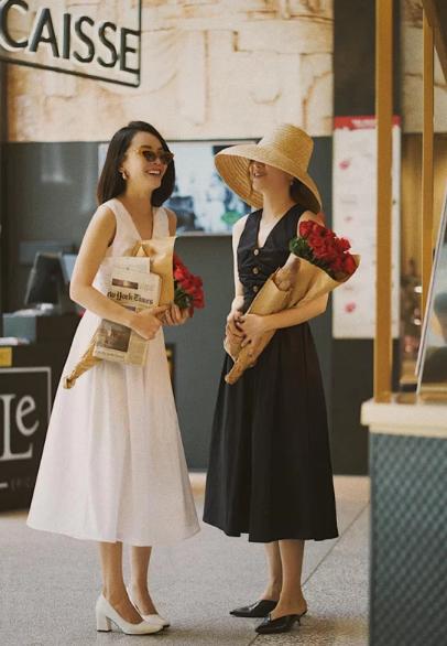 Chọn váy đi chơi lễ đúng mùa như sao Việt - Ảnh 1