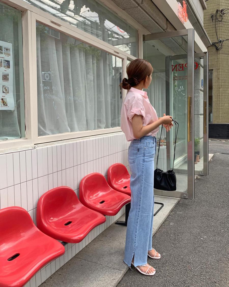 Học gái Hàn mix áo sơ mi sao cho đẹp và chuẩn nhất có thể - Ảnh 1