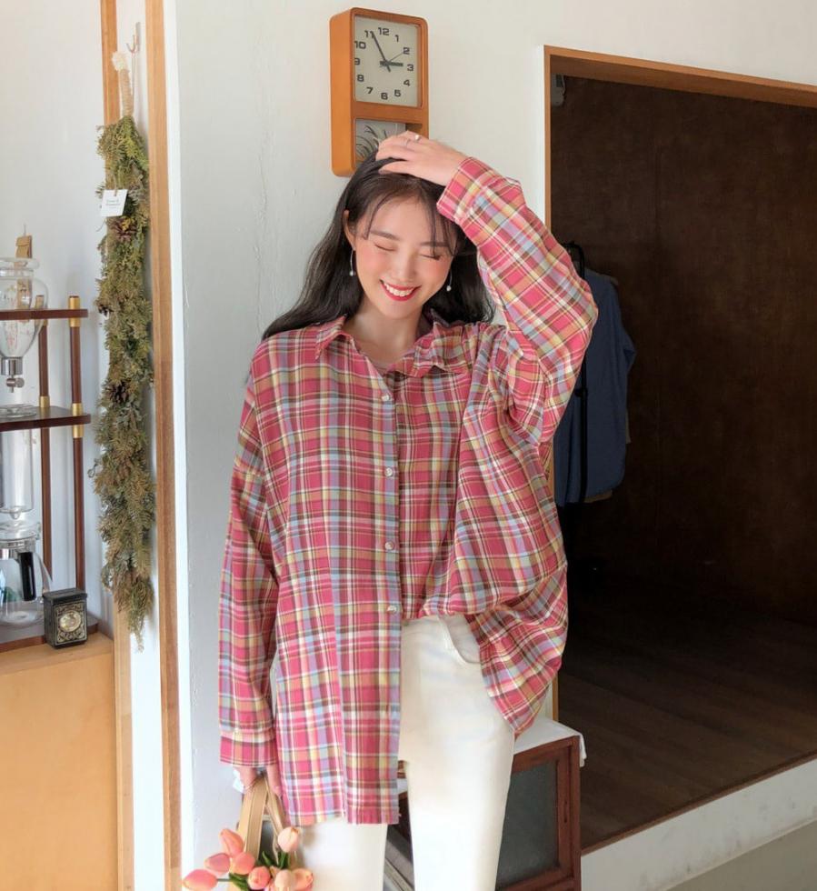 Học gái Hàn mix áo sơ mi sao cho đẹp và chuẩn nhất có thể - Ảnh 4