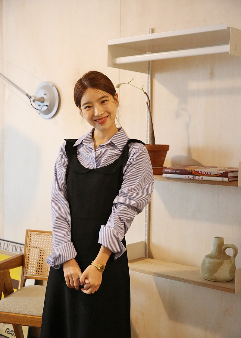 Học gái Hàn mix áo sơ mi sao cho đẹp và chuẩn nhất có thể - Ảnh 8