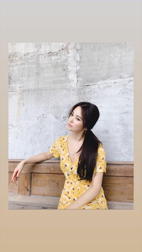 Hình ảnh Song Hye Kyo đăng tải trên trang cá nhân trước đó