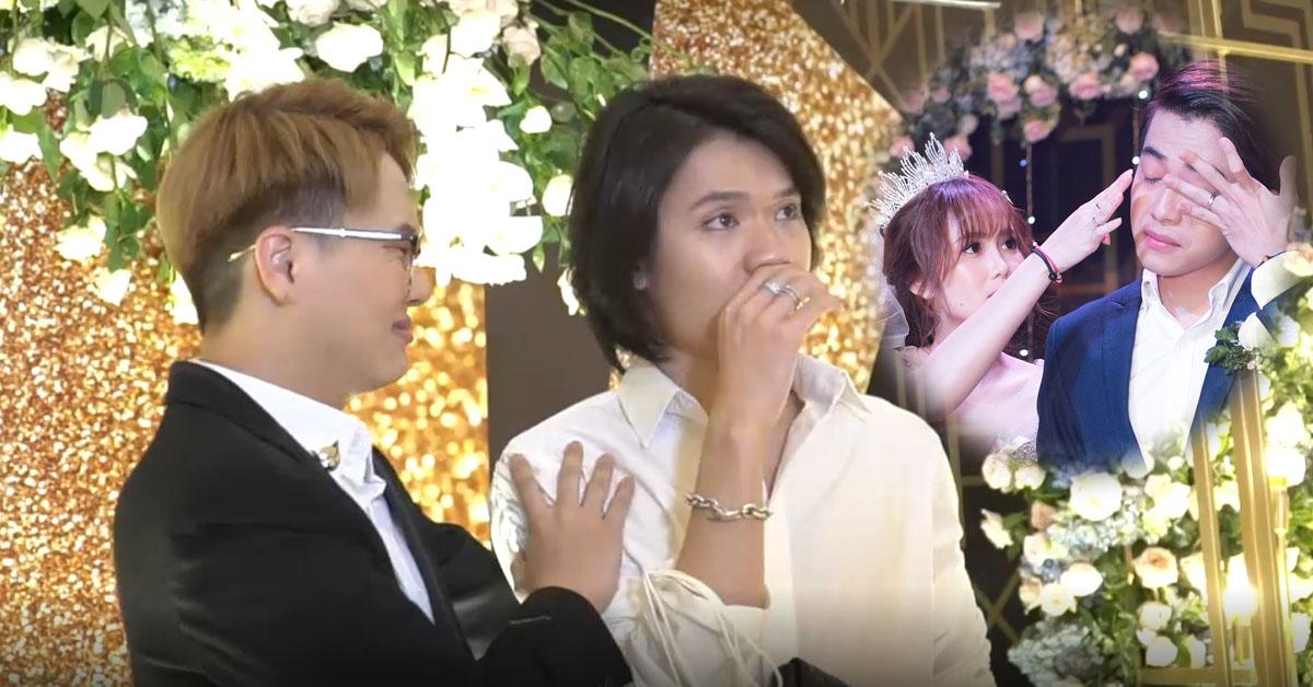 Quang Trung và Duy Khánh trong đám cưới Cris Phan