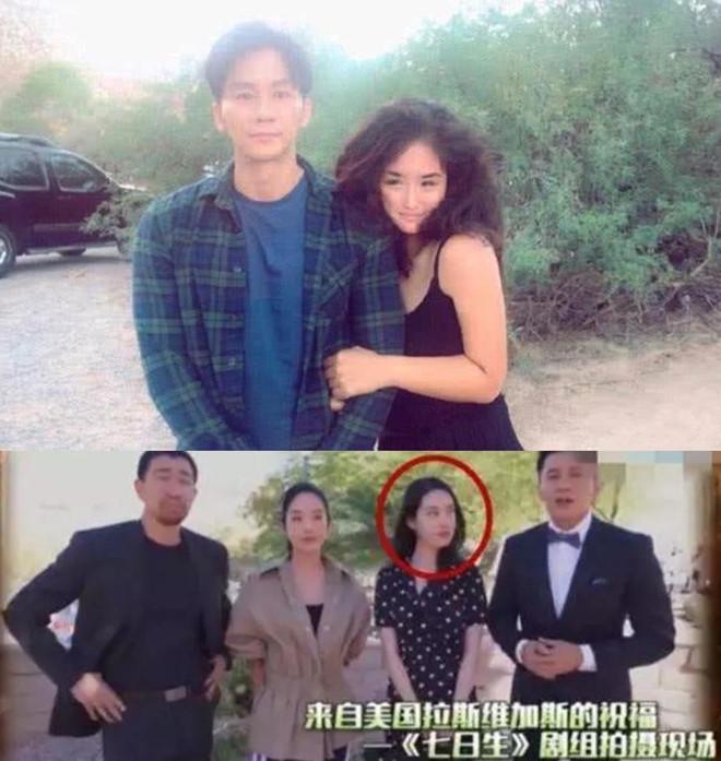 Lý Thần bên cạnh nữ diễn viên Thạch Thuần Tử.
