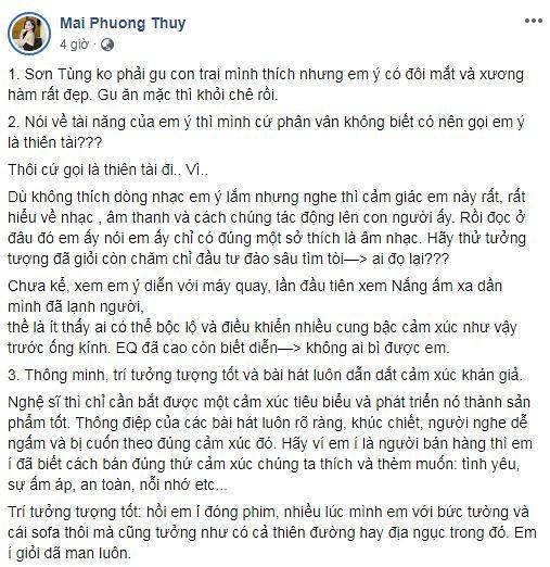 Mai Phương Thúy gây sốc khi nói Sơn Tùng M-TP không phải mẫu con trai cô thích - Ảnh 2