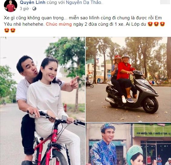 MC Quyền Linh cùng vợ kỷ niệm ngày cưới hết sức giản đơn mà đầy ngọt ngào  - Ảnh 1