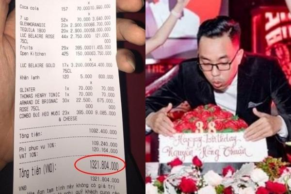 Nguyễn Hồng Thuận xác nhận hóa đơn sinh nhật 1,3 tỷ đồng không phải 'hàng fake' - Ảnh 1