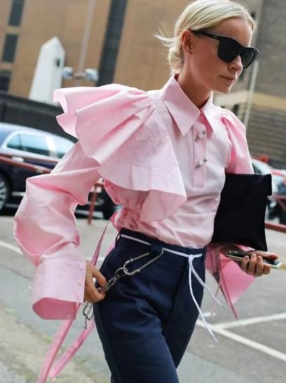 Những kiểu áo blouse cho nàng mê xu hướng bèo nhún - Ảnh 6