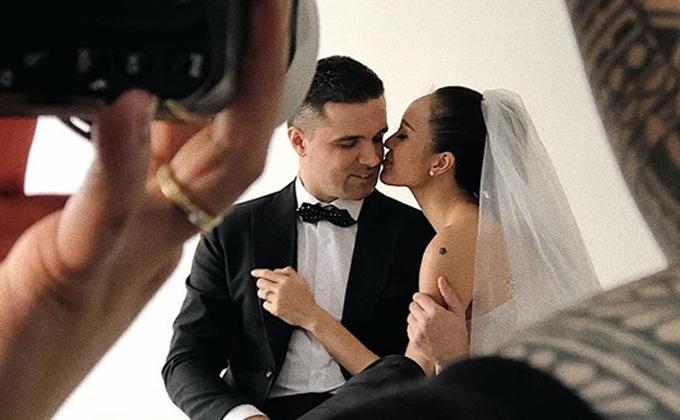 Phương Mai hé lộ hậu trường chụp ảnh cưới với chồng Tây - Ảnh 3