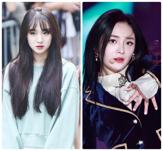 Roa (trái) rất xinh đẹp nhưng không được chú ý bằng Kyul Kyung. Nhóm Pristin đã tan rã trong sự tiếc nuối của công chúng.